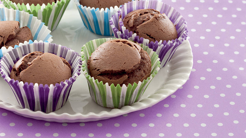 Muffin con banane e gianduia